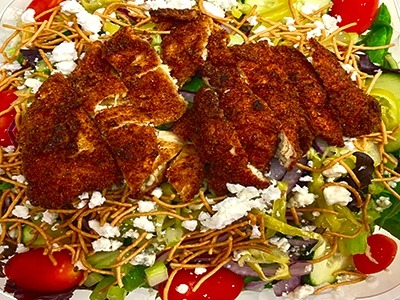 Cajun Fried Chicken Salad Image