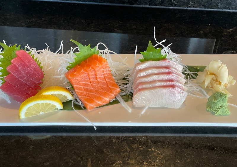 Miyabi Tri Color Sashimi Entree