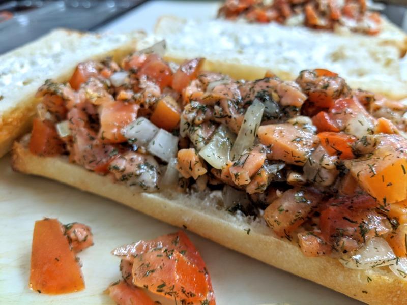 Smoked Salmon Panini Image