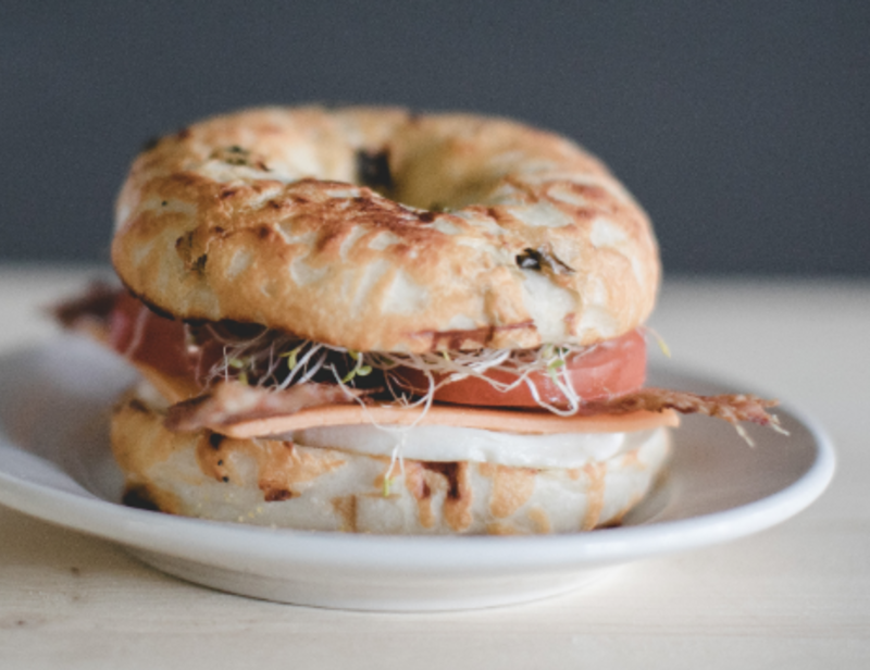 Breakfast Bagel Sandwich Image