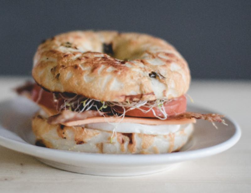 Breakfast Bagel Sandwich Image