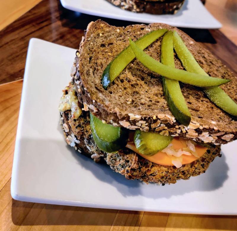Vegan Reuben Burger Image