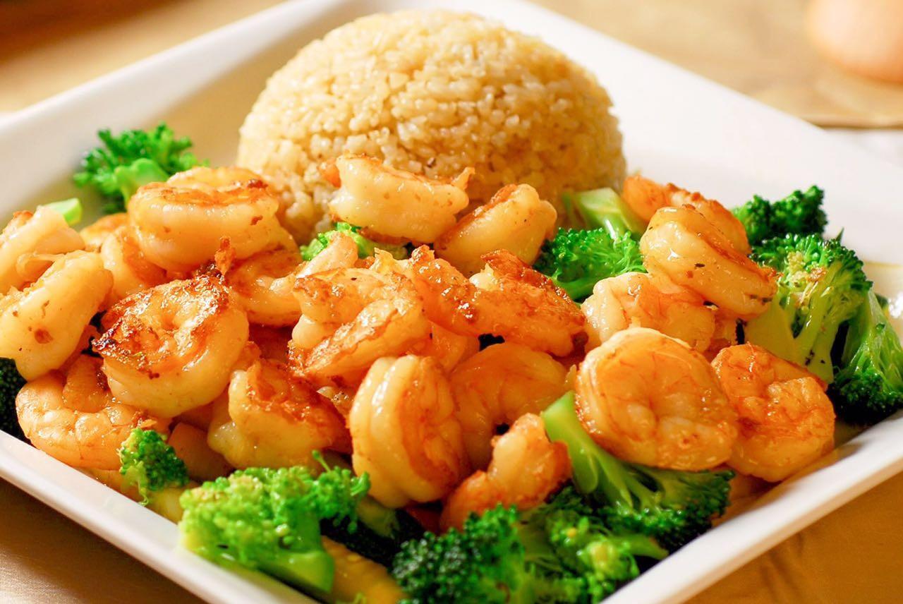 D22. Shrimp w. Broccoli 芥兰虾 Image
