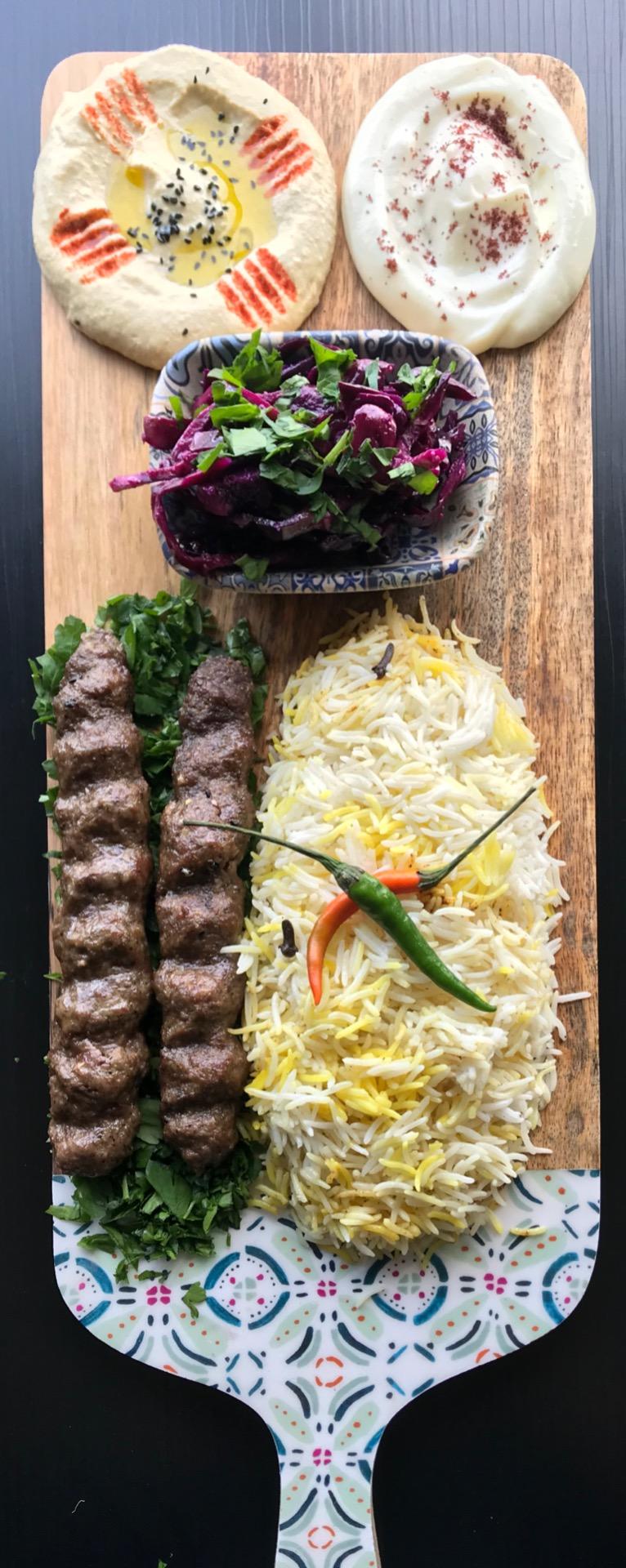 Beef Kufta Kebab Plate Image
