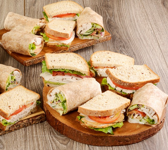 Assorted Wrap & Sandwich Tray Image