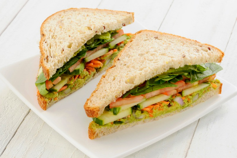 Avocado Cucumber Sandwich