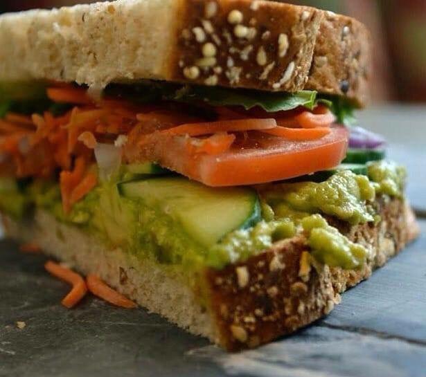 Avocado Cucumber Sandwich