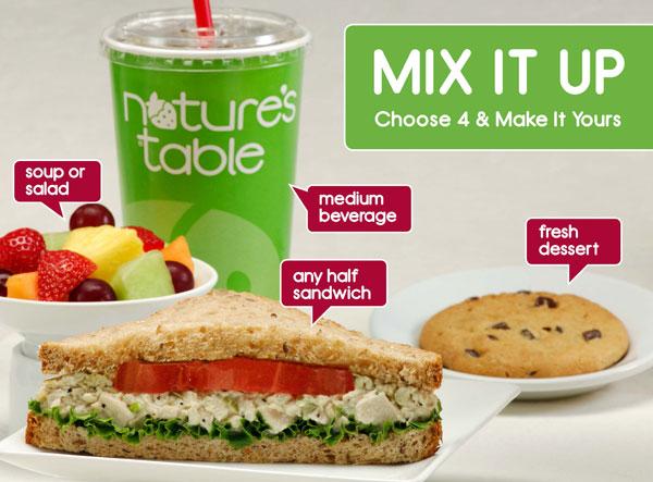 Mix it Up! - Choose 4