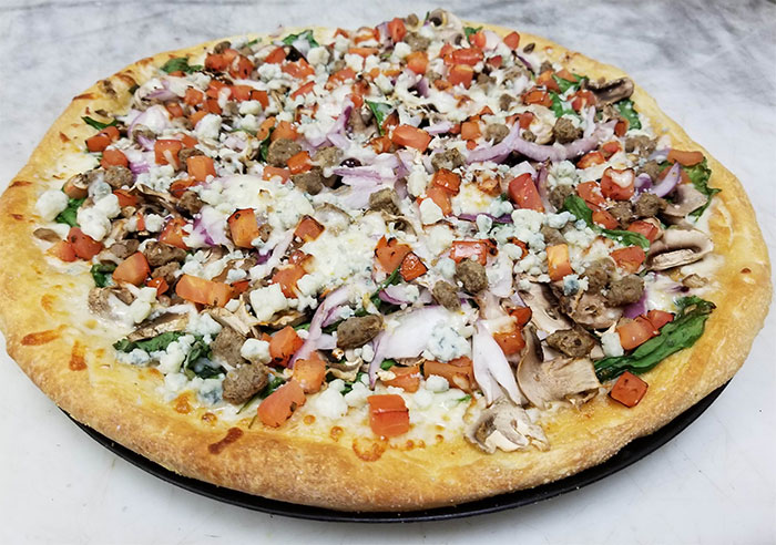 Minnesota (Bleu Cheese Mushroom Burger Pizza) Image
