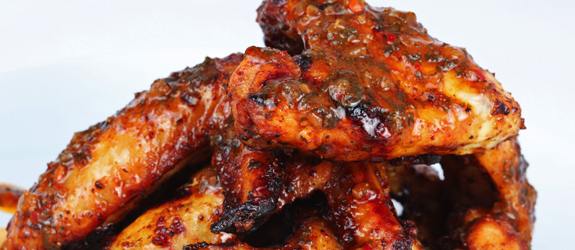 BBQ Wings w/ 1 Side