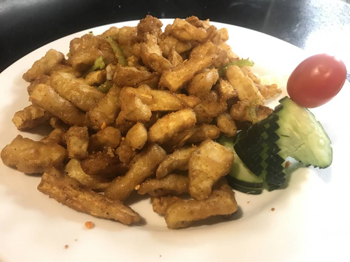 Salt & Pepper Fried King Oyster Mushroom Image