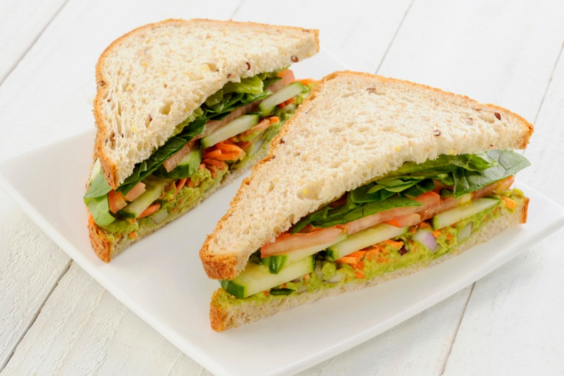 Avocado-Cucumber Sandwich Image