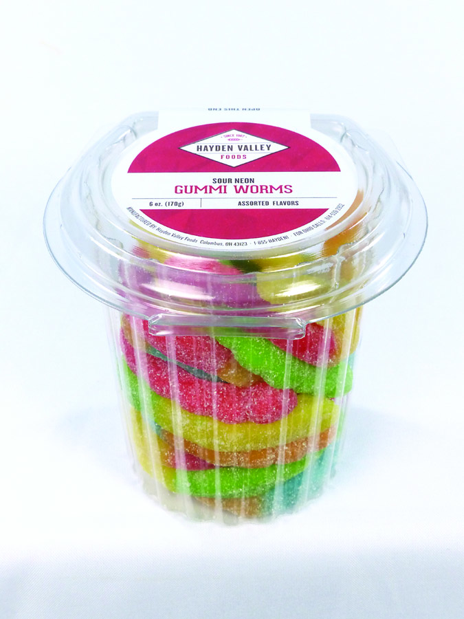 Sour Neon Gummy Worms Image