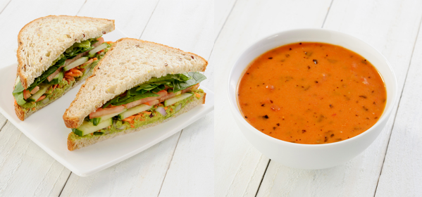 Vegetarian Sandwich & Side Boxed Lunch Image