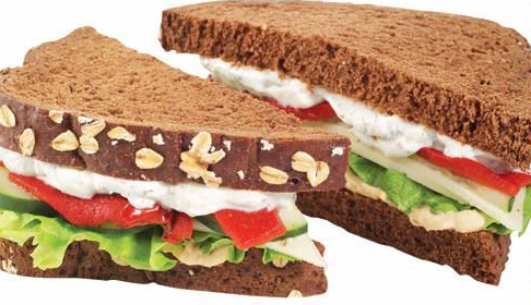 Hummus & Tzatziki Sandwich Image