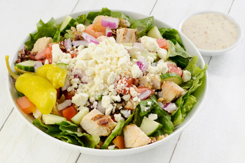 Medium Mediterranean Salad (with Chicken) Image