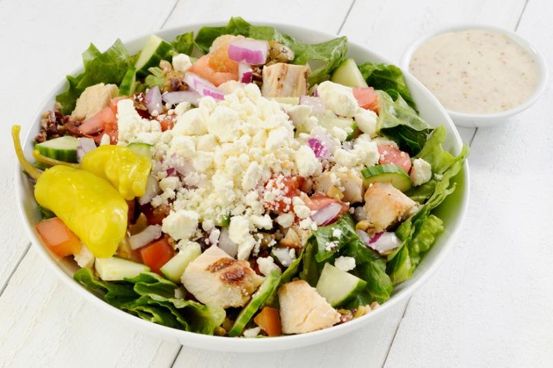 Medium Mediterranean Salad (with Chicken) Image
