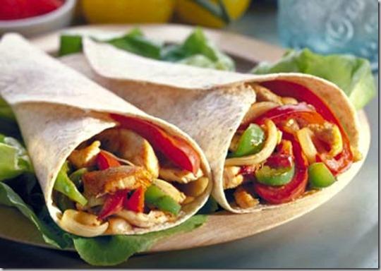 Salsa Chicken Fajita Burrito Bar Image