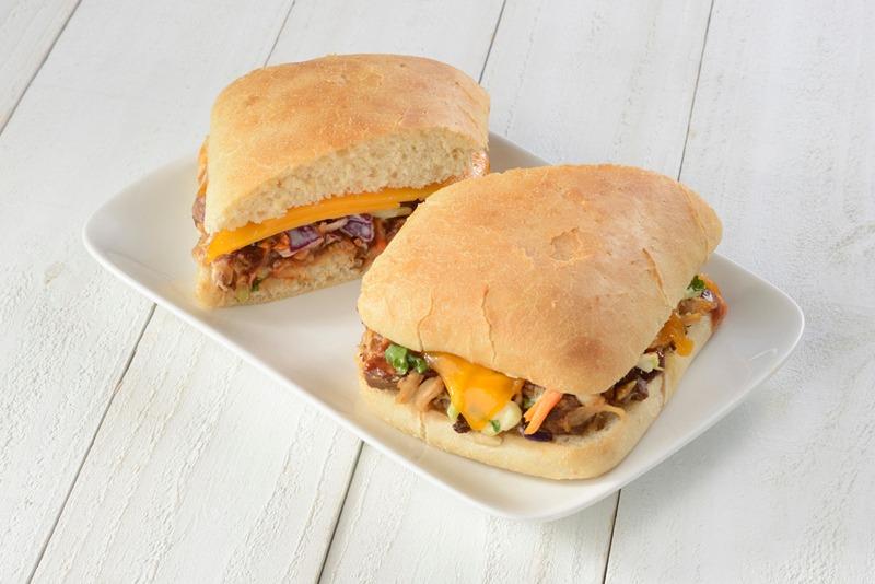 BBQ Pork & Slaw - Toasted Sandwich Image