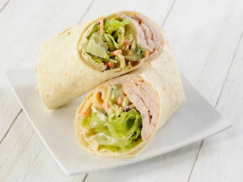 Swiss & Slaw Wrap - Vegetarian Image