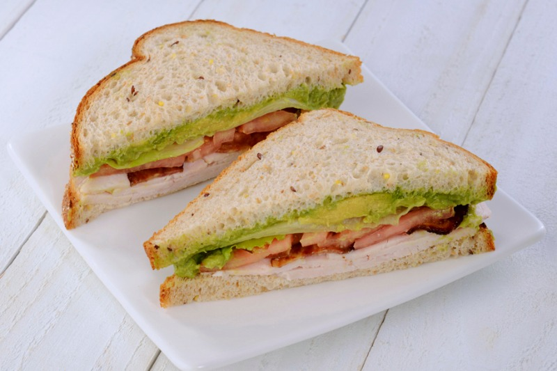 California Club Sandwich - Vegetarian