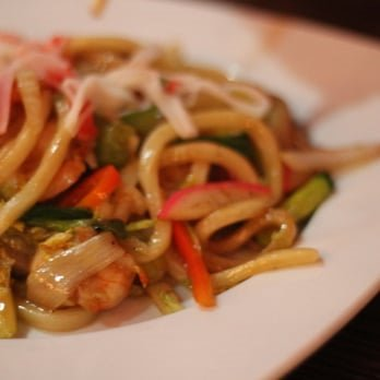 Seafood Yaki Udon Noodles Image
