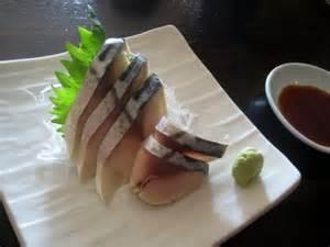 Mackerel (Saba) Sashimi