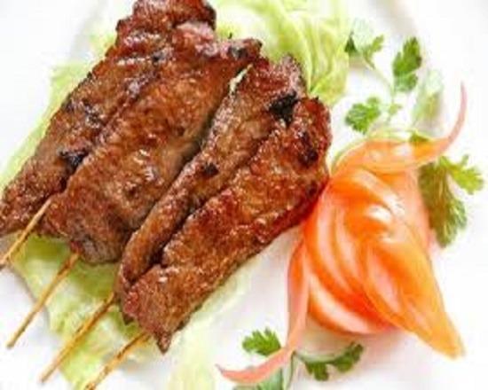 13. Teriyaki Beef on Stick (4) 牛肉串