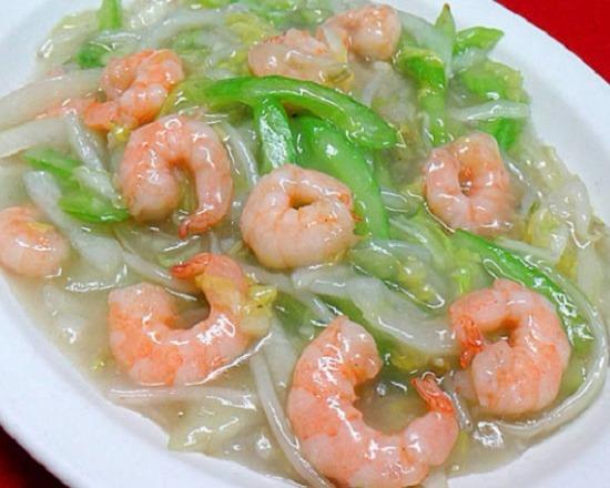 47. Shrimp Chow Mein 虾炒面
