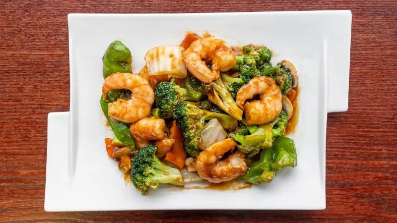 136. Shrimp w. Mixed Vegetable 杂菜虾