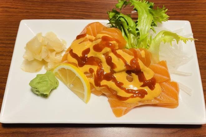 Spicy Salmon Sashimi (5 pcs)