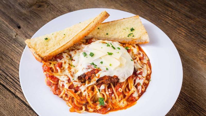 Chicken Parmigiana with Spaghetti