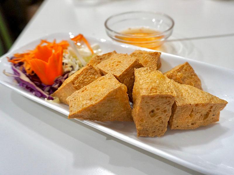 7.Fried Tofu (8)(GF)