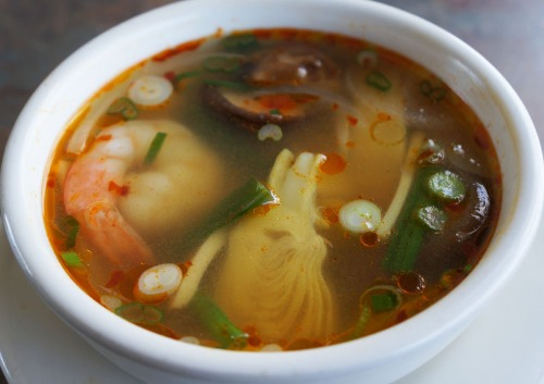 Spicy Sour Shrimp Soup with Artichoke- - Sup Tom Chua Cay Image