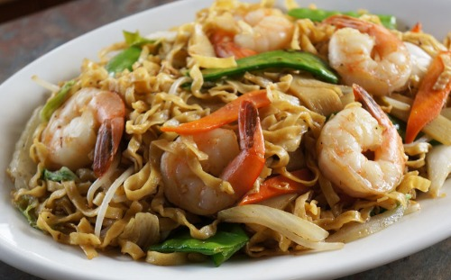 Stir Fried Rice Noodle or Egg Noodle- Hu Tieu/ Mi Xao Men Image
