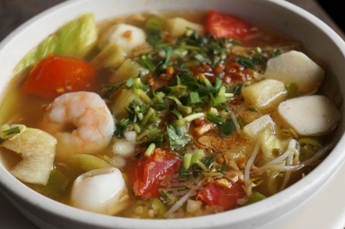 Spicy Sweet & Sour Seafood Soup