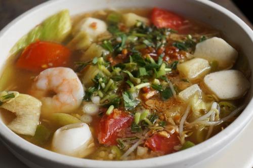 Spicy Sweet & Sour Shrimp Soup Image