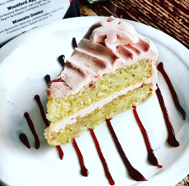 Vegan + GF Lemon Strawberry Cake Image