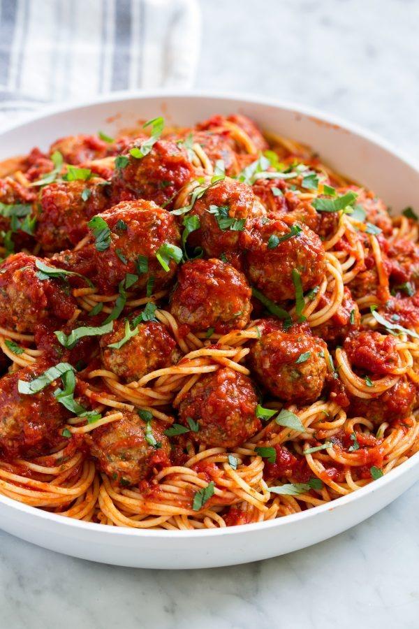 Spaghetti with Handmade Meatballs Image
