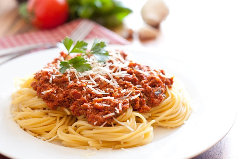 Spaghetti with Homemade Meat Sauce Image