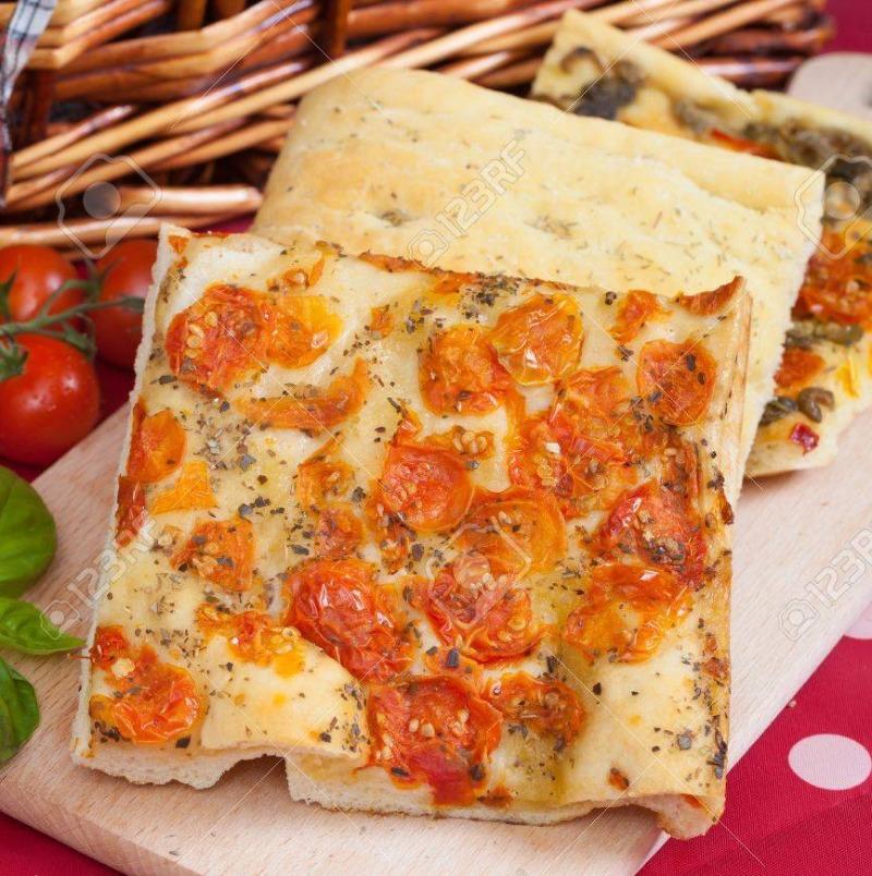 Focaccia Pizza Slice Image