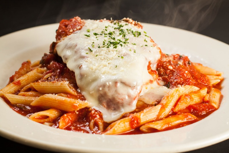 Baked Penne with Breaded Chicken Cutlet Image