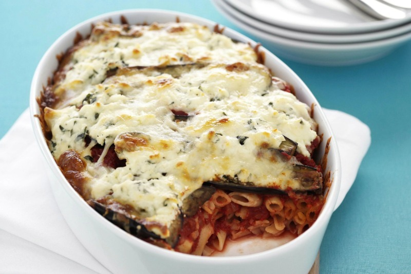 Baked Penne with Breaded Eggplant Image