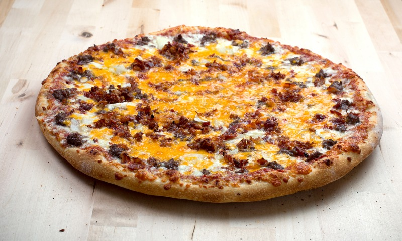 Bacon Onion Cheeseburger Pizza