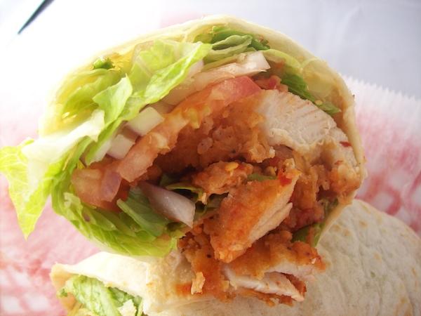 Hot Garlic Chicken Tortilla Wrap Image