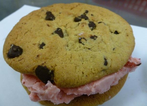 Chocolate Chip Cookie Ice Cream Sandwich Image