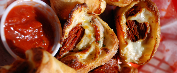 Cheesy Pizza Pinwheels Image