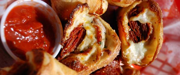 Cheesy Pizza Pinwheels Image