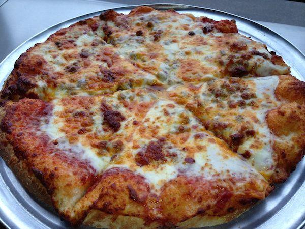 Bacon Double Cheeseburger Pizza Image