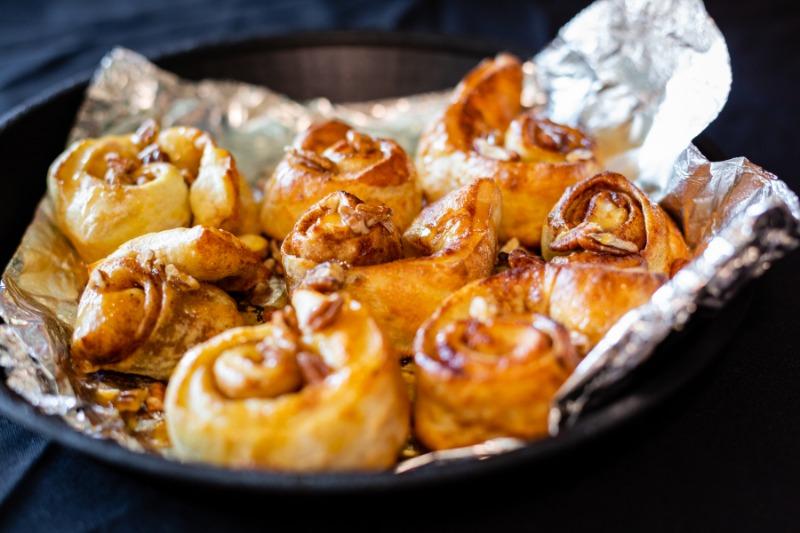 Cinnamon Pecan Caramel Pinwheels Image